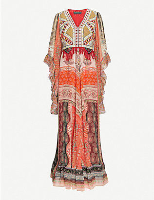 ETRO: Rosie patterned silk-crepe maxi dress