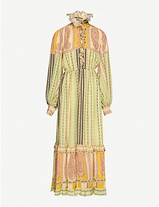 ETRO: Pamela graphic-print silk-crepe maxi dress