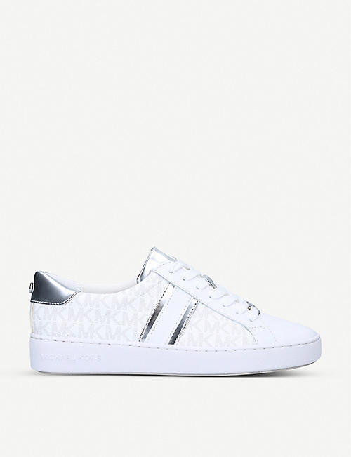 MICHAEL MICHAEL KORS: Irving logo-print leather trainers