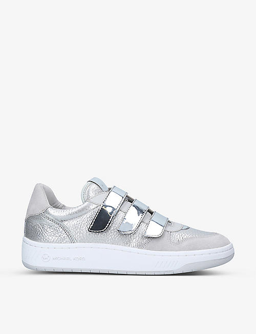 MICHAEL MICHAEL KORS: Gertie metallic faux-leather trainers