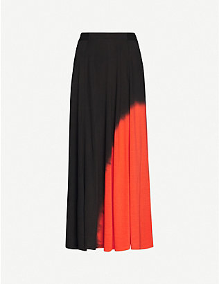 NINETY PERCENT: Dip-dyed stretch-jersey maxi skirt