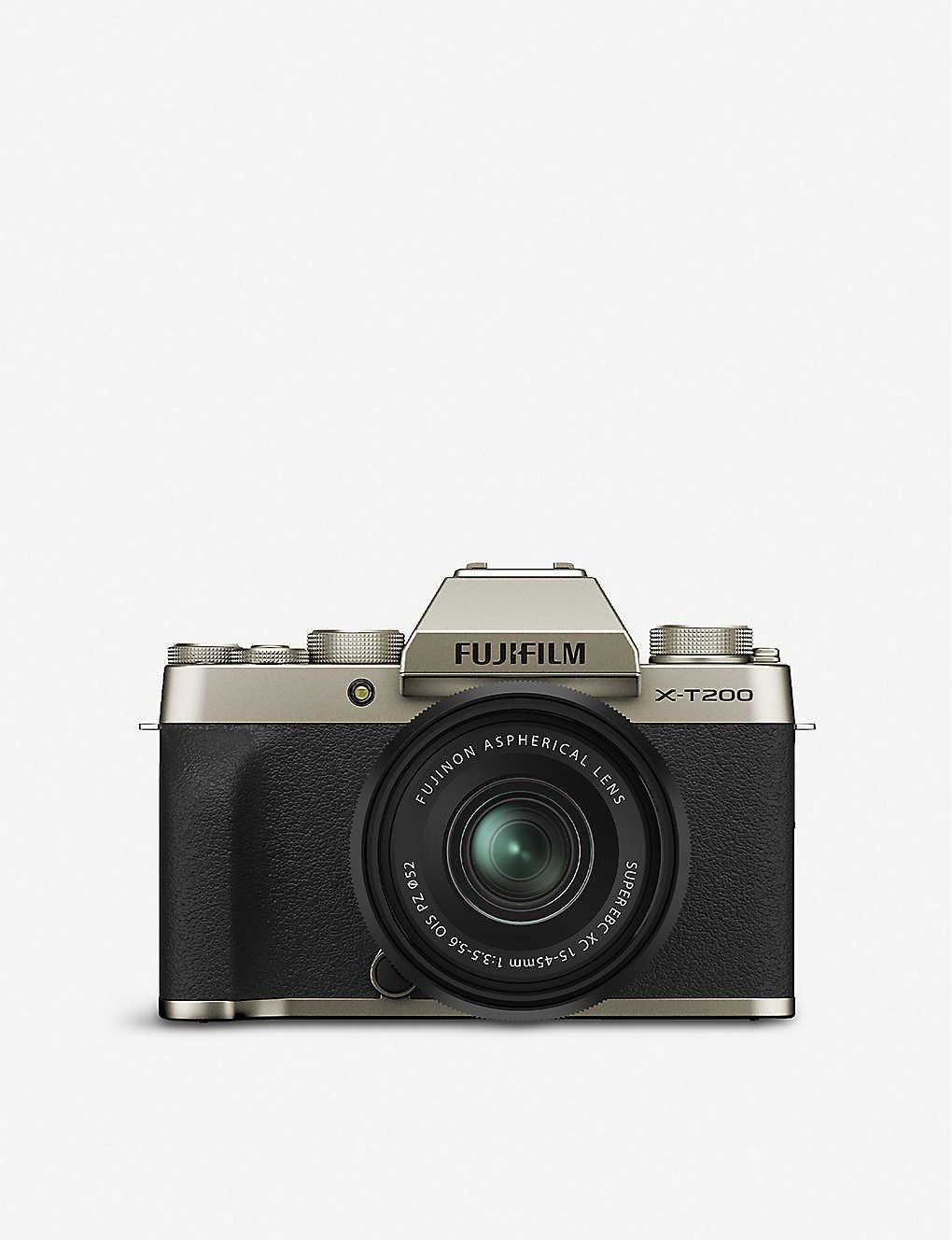 Fujifilm X T200 Compact Mirrorless Camera Kit Selfridges Com
