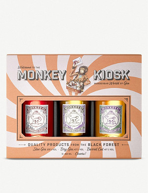GIN The Monkey Kiosk gin set of three