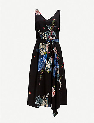 TED BAKER: Jamboree Trini sleeveless stretch-woven midi dress