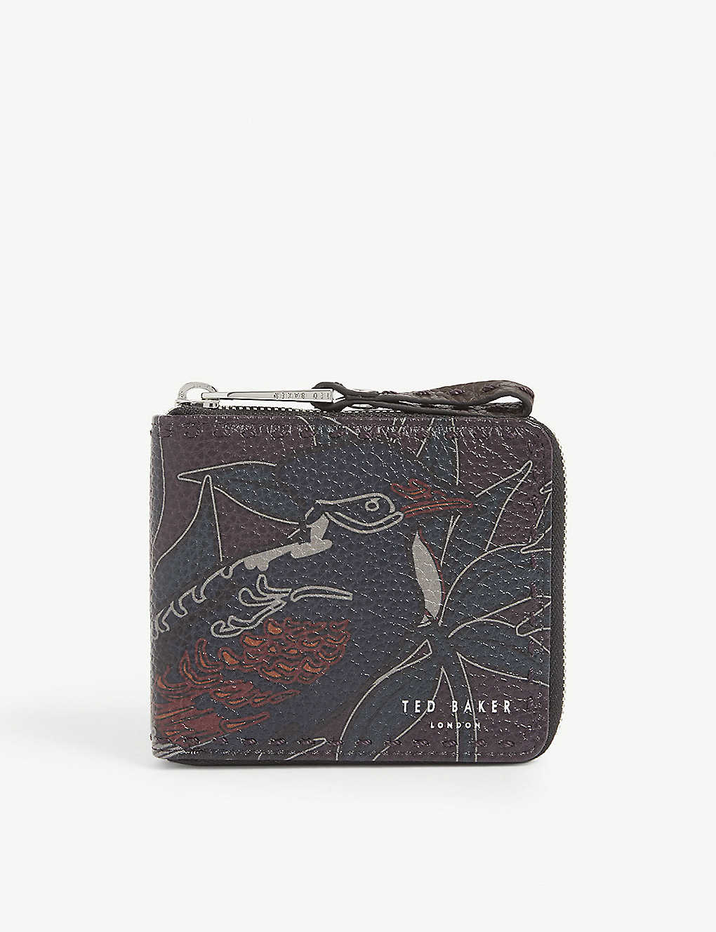 TED BAKER: Printed leather wallet