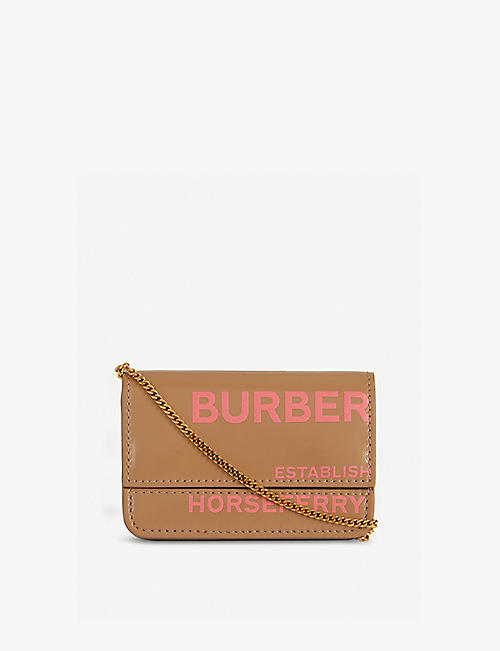 BURBERRY Jody Horseferry logo leather card holder