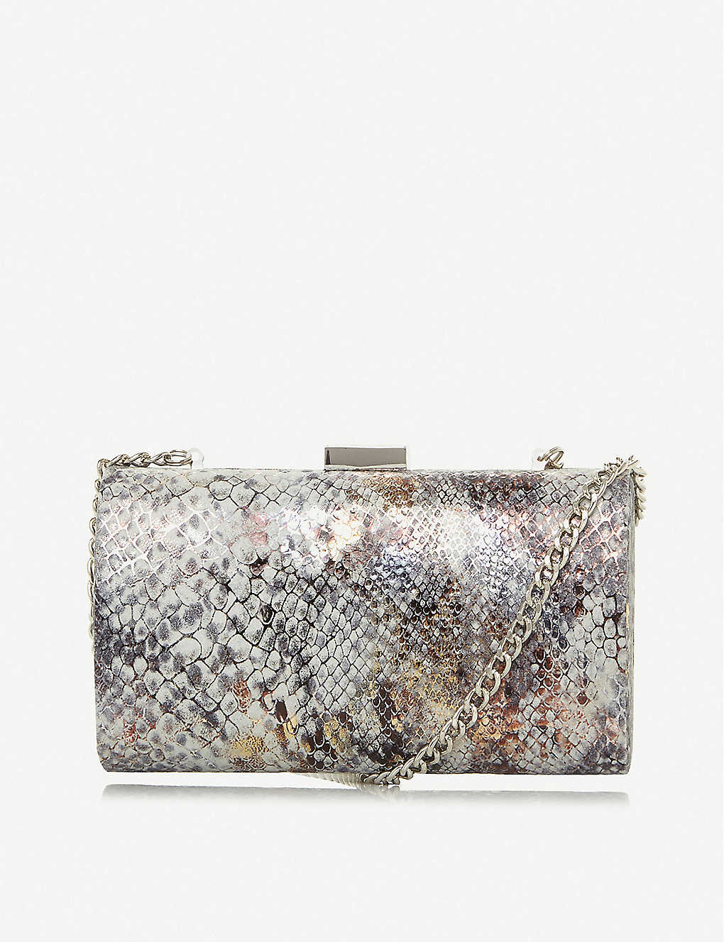 DUNE: Bustle croc-effect clutch bag
