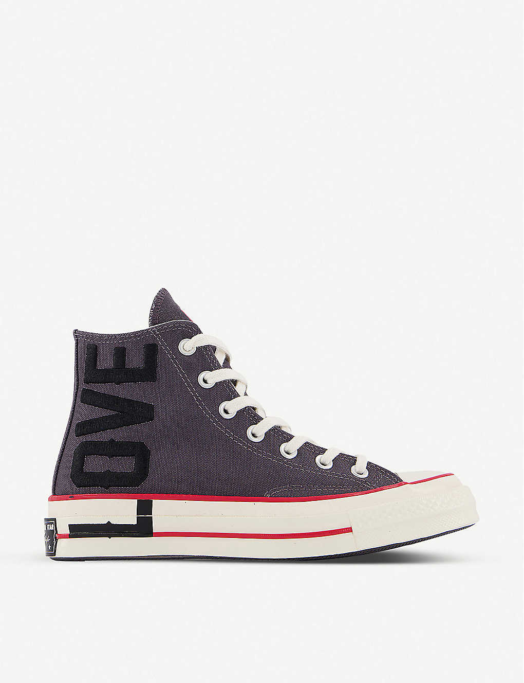 CONVERSE: All Star Hi 70 love high-top canvas trainers