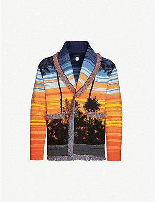 ALANUI: Sunset Boulevard wool-blend cardigan