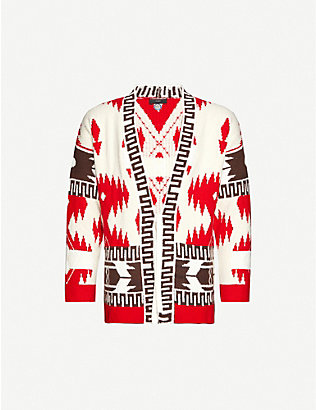 ALANUI: Icon Lapponia geometric-patterned cotton-knit cardigan