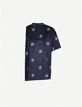 MARTINE ROSE: Graphic-print cotton-blend T-shirt