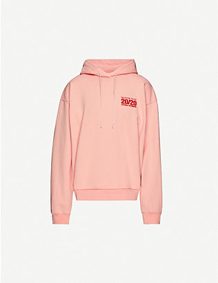 MARTINE ROSE: Logo-embroidered cotton-jersey hoody