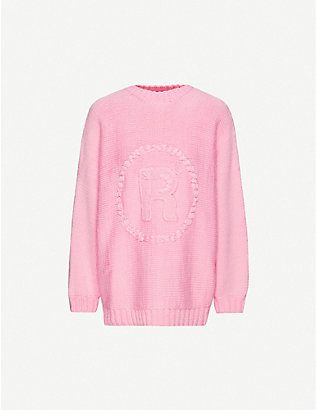 MARTINE ROSE: Logo-embroidered wool jumper