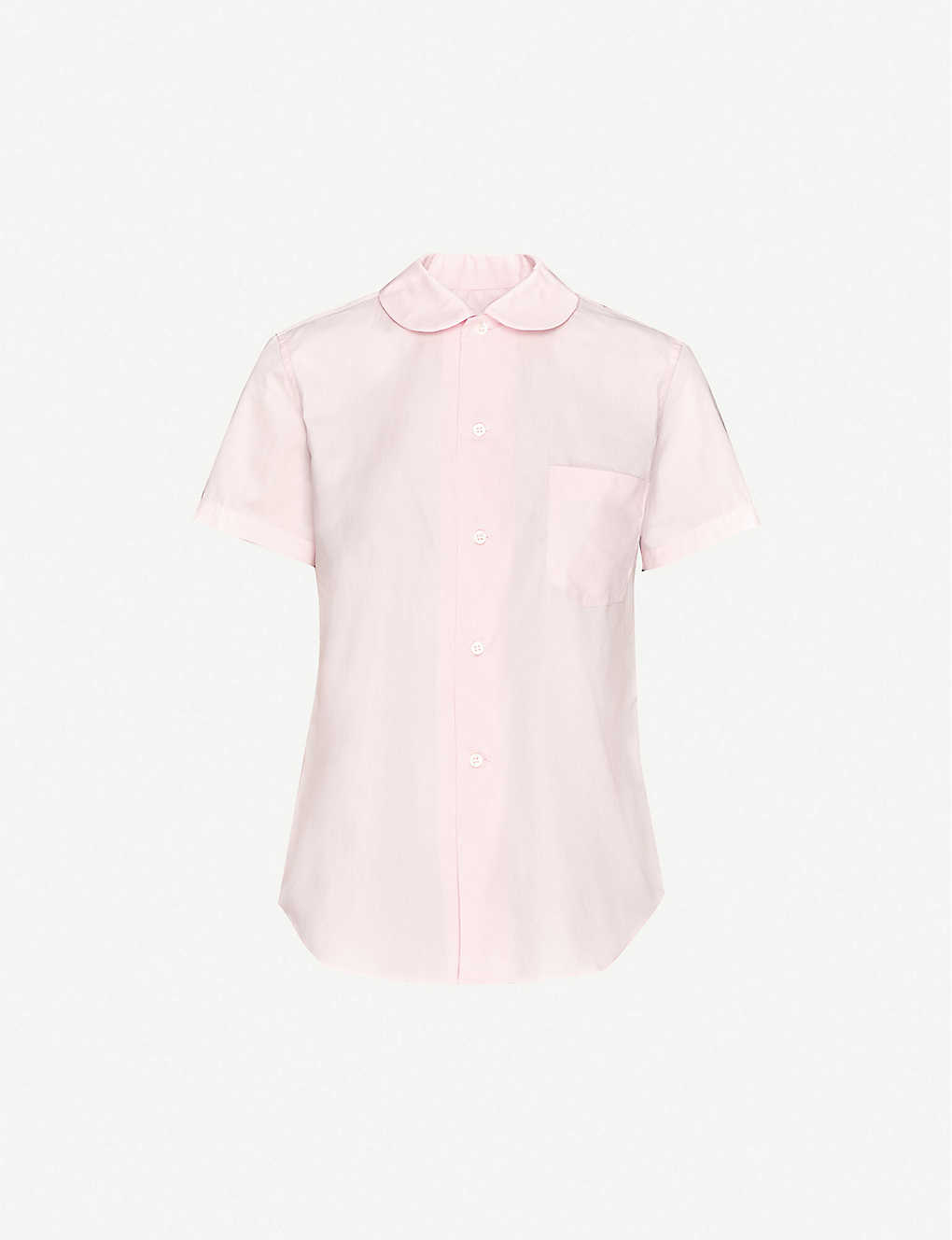 COMME DES GARCONS GIRL: Short-sleeved cotton-poplin shirt