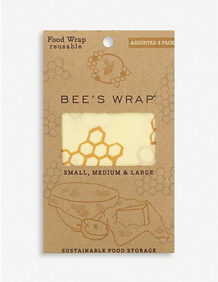 EDDINGTONS: Reusable beeswax food wraps set of three