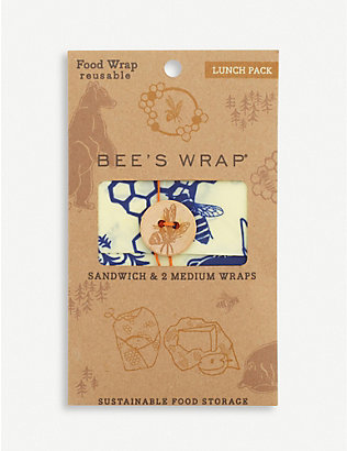 EDDINGTONS: Bee's Wrap Lunch Pack reusable bag set