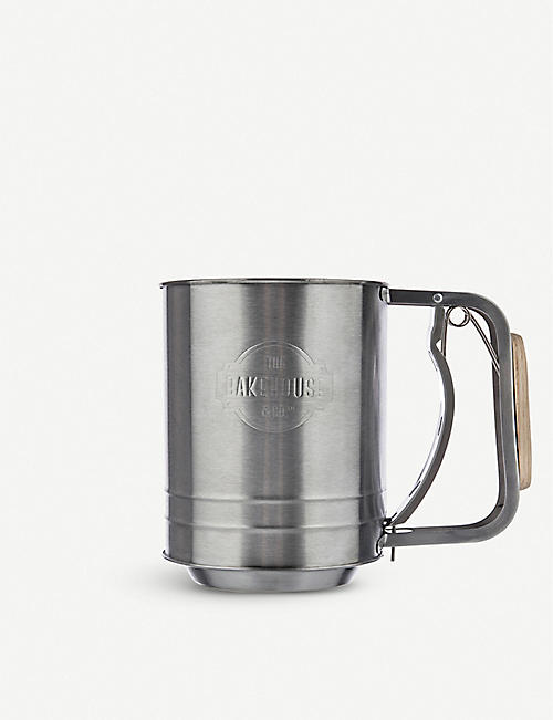 BAKEHOUSE: Stainless steel flour sifter 16.5cm x 13cm
