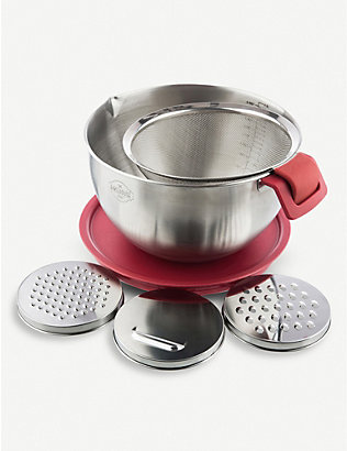 BAKEHOUSE: Mixing bowl and grater attachments set