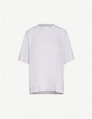 TOPSHOP: Oversized cotton-jersey T-shirt