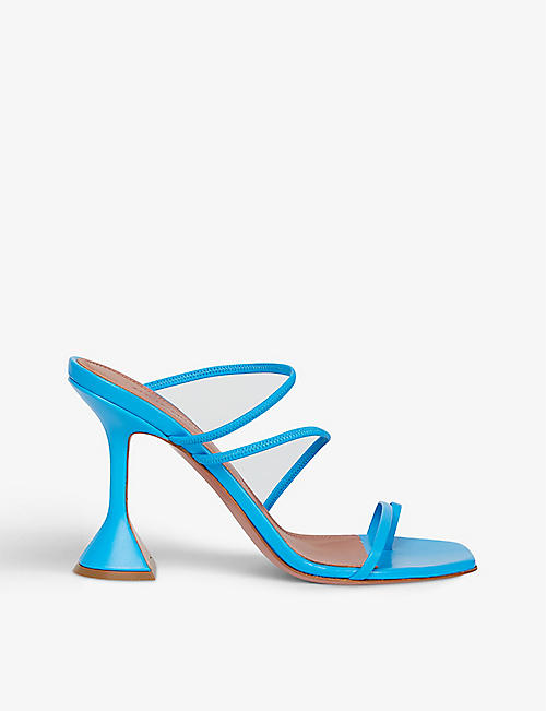 AMINA MUADDI: Naima square-toe leather sandals