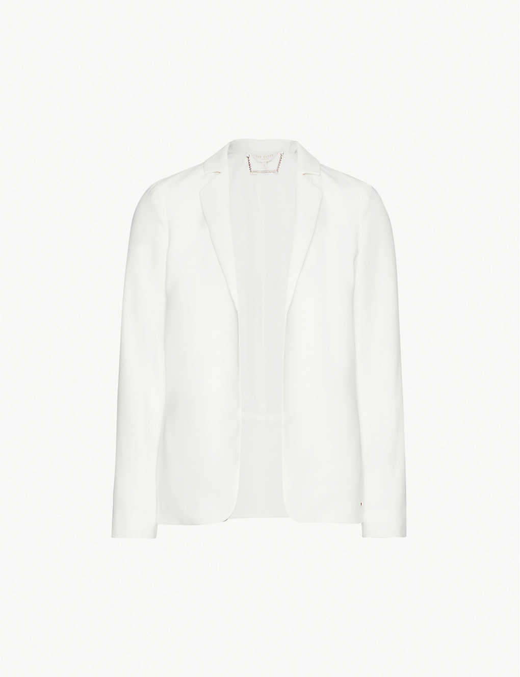 TED BAKER: Longline single-breasted crepe blazer