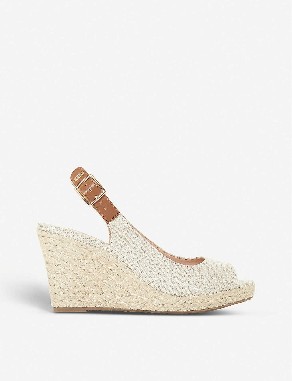 DUNE: Kicks espadrille wedge sandals