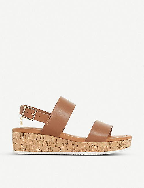 DUNE: Lennie leather platform sandals