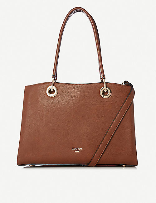 DUNE: Darys large faux-leather tote bag