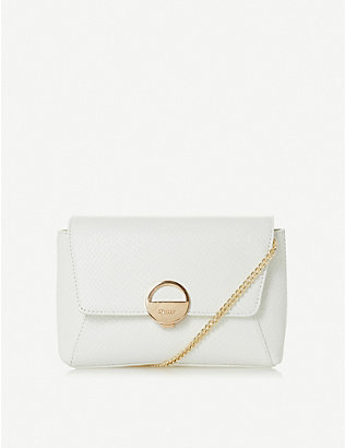 DUNE: Bethan snake-embossed leather clutch bag