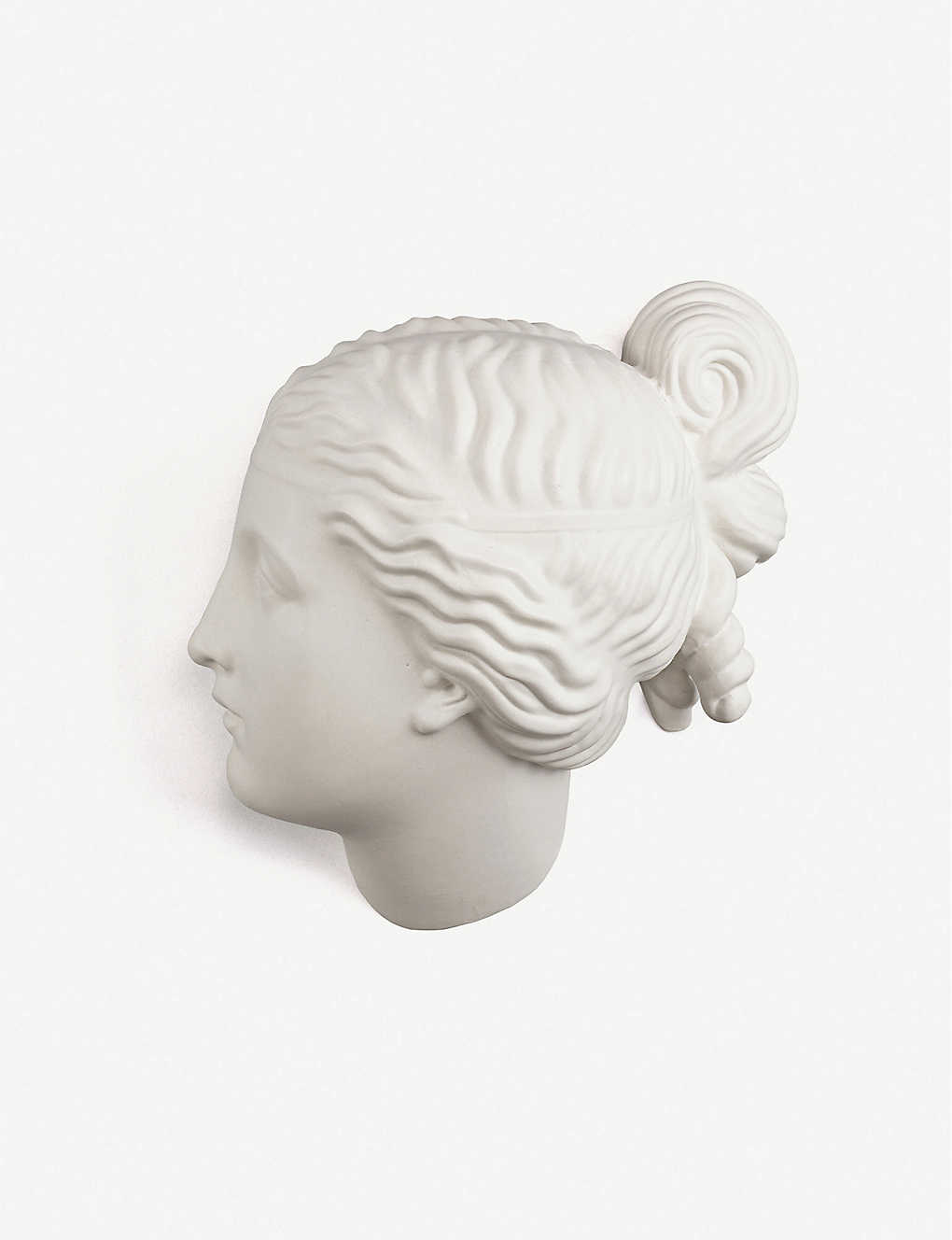 SELETTI: Female head porcelain decoration 37cm