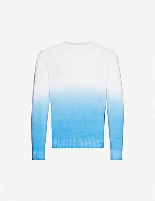 ALANUI: Dip-dyed wool, cashmere and cotton-blend jumper