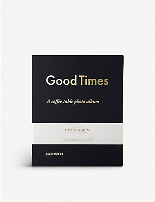 PRINT WORKS: Good Times coffee table photo album 19.5cm x 20cm