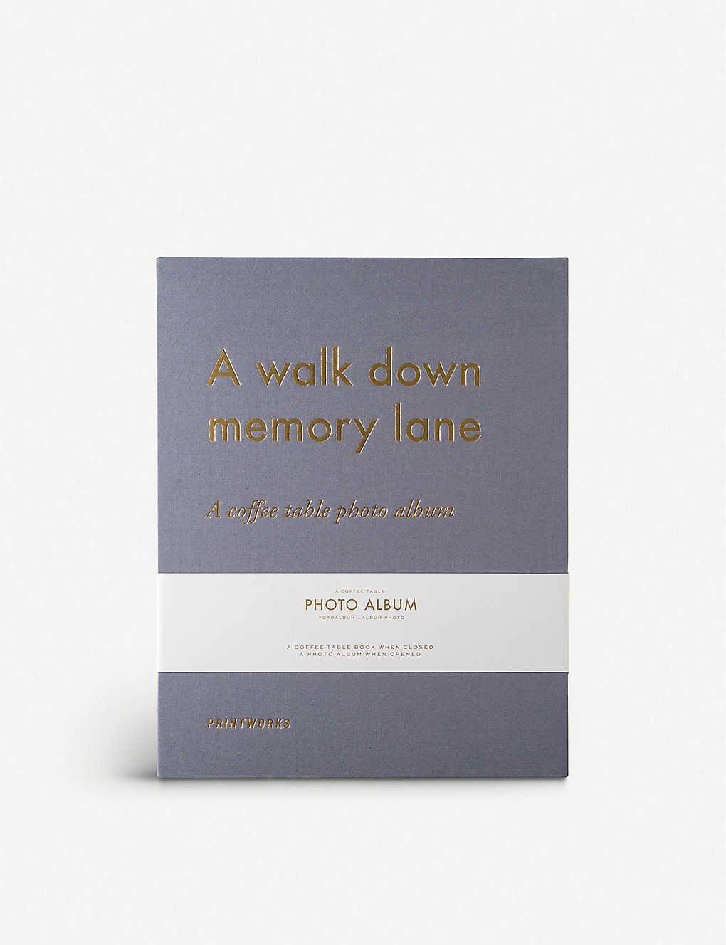 PRINT WORKS: Memory Lane coffee table photo album 19.5cm x 20cm