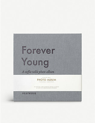 PRINT WORKS: Forever Young coffee table photo album 19.5cm x 20cm