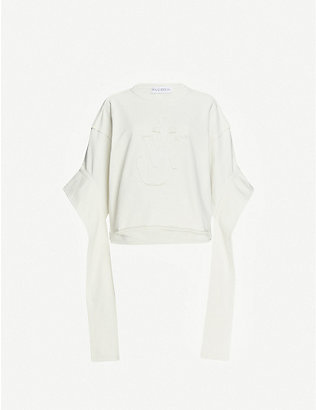 JW ANDERSON: Logo-appliqué cotton-jersey jumper