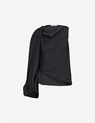JW ANDERSON: One-sleeve satin top