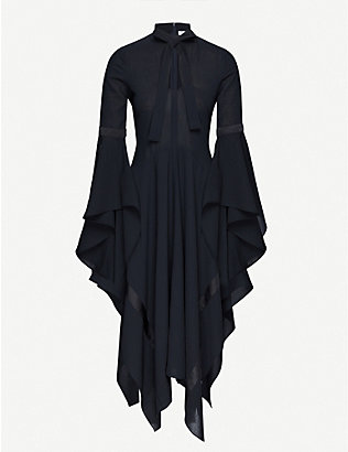 JW ANDERSON: Asymmetric crepe midi dress