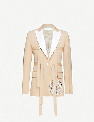 JW ANDERSON: Embellished slim-fit wool blazer