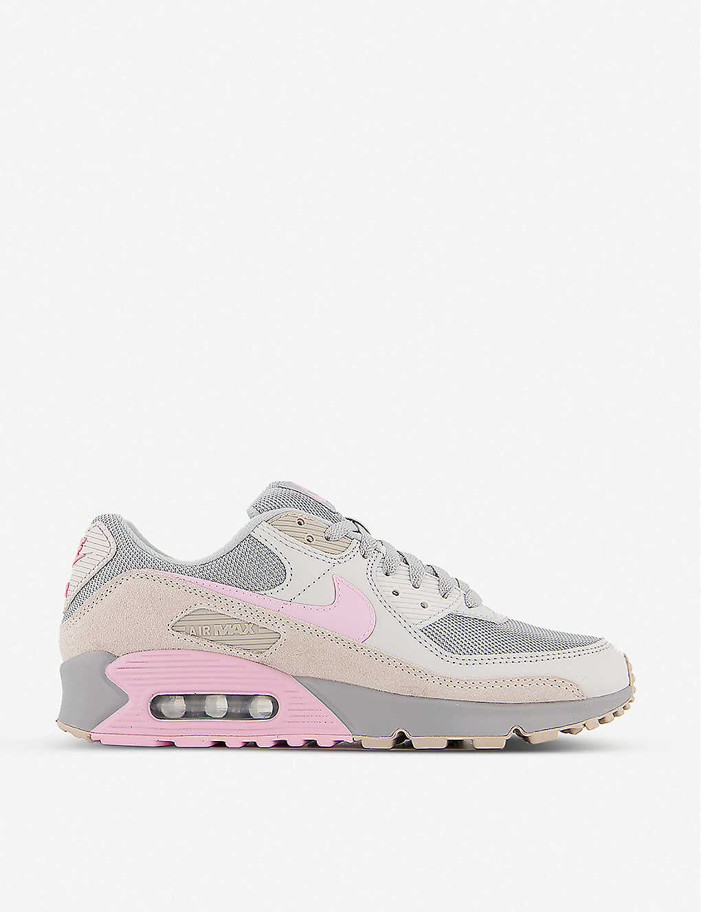 Air Max 90 leather and textile trainers
