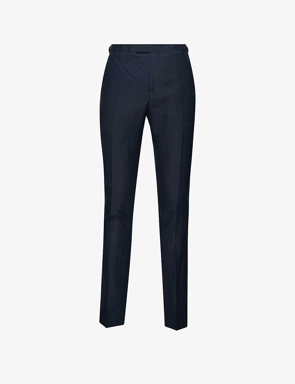 REISS: Brosnon slim-fit tapered linen and cotton-blend trousers