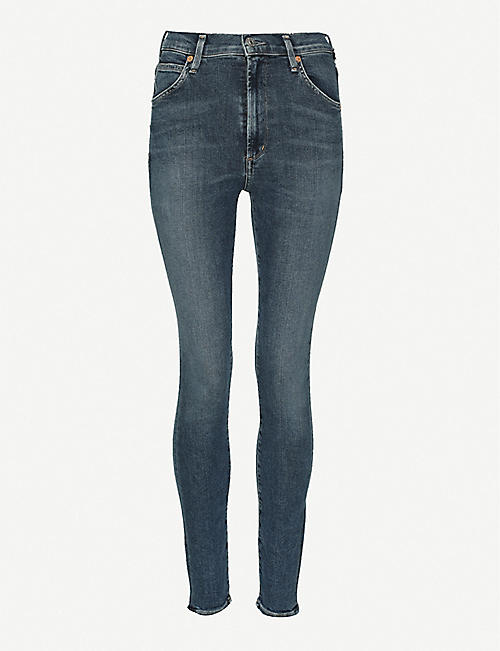 CITIZENS OF HUMANITY: Chrissy high-rise skinny stretch-denim jeans