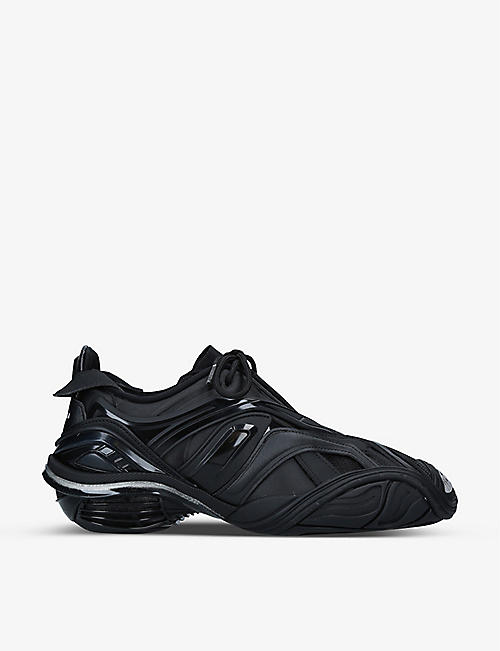 BALENCIAGA: Women's Tyrex panelled faux-leather and mesh trainers