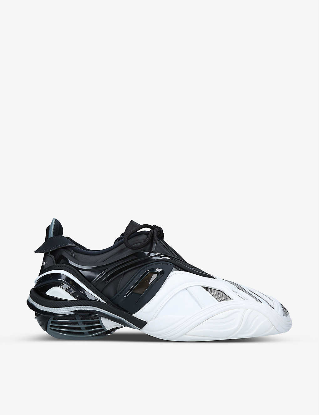 BALENCIAGA TYREX PANELLED FAUX-LEATHER AND MESH TRAINERS