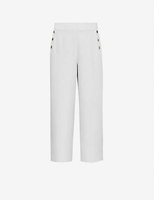 TED BAKER: Peliatt wide-leg high-rise stretch-woven culottes