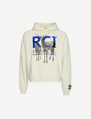 REESE COOPER: Graphic-print cotton-jersey hoody