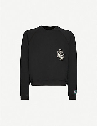 REESE COOPER: Postcard brand-patch cotton-jersey sweatshirt