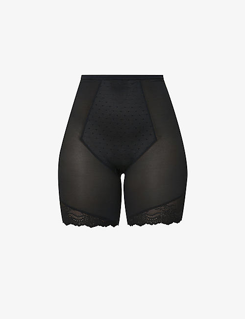 SPANX: Spotlight on Lace super high-rise mesh mid-thigh shorts