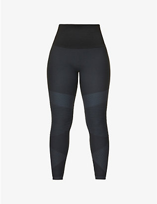 SPANX: Look At Me Moto high-rise stretch-woven leggings