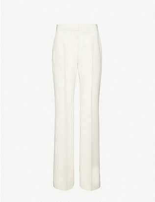 VICTORIA BECKHAM: Flared high-rise crepe trousers