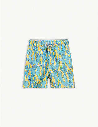 BOARDIES: Cactus print shell swim shorts 1-13 years
